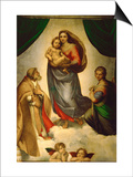 Sistine Madonna  Painted for Pope Julius II as His Present to City of Piacenza  Italy  1512-1513