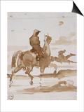 Etude de chevaux et jockeys