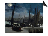 Moonlight Over Boulogne Harbor  1869