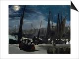 Moonlight Over Boulogne Harbor  1869