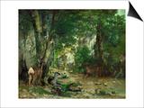 Deer Reserve at Plaisir Fontaine  1866