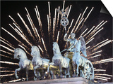New Year's Fireworks above the Quadriga at the Brandenburg Gate in Berlin  Germany  c2007