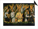 Angels Making Music; Left Panel of a Triptych