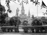 The Famed Old St Louis Cathedral Faces Jackson Square or Place D'Armes