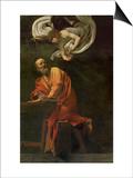 Saint Matthew Writing  Inspired by an Angel  1600-1602