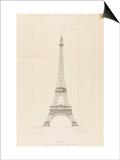 Tour Eiffel : élévation générale