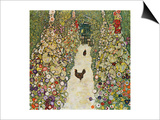 Gardenpath with Hens  1916