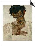 Egon Schiele  Self-Portrait with Bent Head  Study for Eremiten (Hermits)