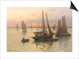 Breton Fishing Boats at Sunset
