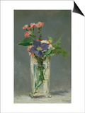 Carnations and Clematis in a Crystal Vase  1882
