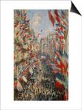 La Rue Montorgeuil  Paris  During the Celebrations of June 30  1878