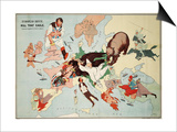 Satirical Map - European Revue - Kill That Eagle