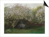 Lilas  temps gris  ou Le repos sous les lilas  jardin de Monet à Argenteuil