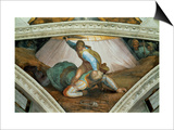 The Sistine Chapel; Ceiling Frescos after Restoration: David and Goliath