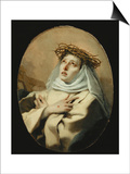 Saint Catherine of Siena  Around 1746