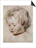 Portrait Study of His Son Nicolas  1621