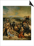 The Massacre of Chios  Greek Families Waiting for Death or Slavery  1824