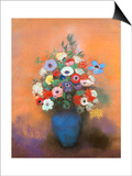 Anemones and Lilacs in a Blue Vase  after 1912