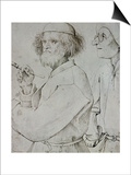 Painter and Patron (With Brueghel's Self-Portrait)  Drawing