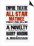 A Novelty  The First in 20 Years  Harry Houdini as a Magician