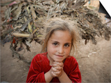 Afghan Refugee Child Looks on in a Neighborhood of Rawalpindi  Pakistan