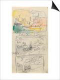 Carnet : 3 paysages dans un cadre et annotations manuscrites