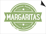 Premium Margaritas Cocktail Bar Menu Stamp