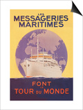 Take a Cruise Around the World with les Messageries Maritimes