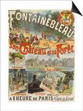 """Affiche """"Fontainebleau  son Château et sa Forêt"""""""