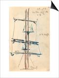 Carnet : Voilure avec annotations manuscrites