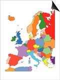 Europe With Editable Countries