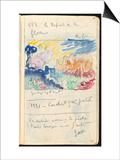Carnet : Paysage et annotations manuscrites