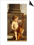Putto jouant de la basse de viole