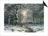 Wooded Winter Landscape  c1899