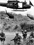 Helicopters Drop Troops