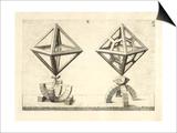 Illustration Of Sculpture Geometric Designs Illustrating Euclidian Principles Of Geometry