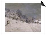 Environs de Honfleur  neige