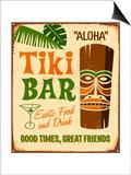 Vintage Sign Print - Tiki Bar