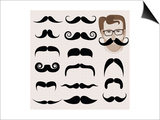 Hipster And Retro Mustaches