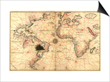 Portolan World Map