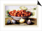 Dish of Cherries with Figs and Medlars
