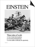 Einstein; Three Rules of Work