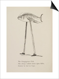 Fish On Stilts From Nonsense Botany Animals and Other Poems Written and Drawn by Edward Lear