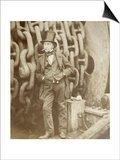 Isambard Kingdom Brunel (1806-1859) at Millwall  Leaning Against a Chain Drum  November 1857