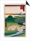 New Fuji  Meguro'  from the Series 'One Hundred Views of Famous Places in Edo'