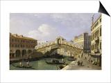 The Rialto Bridge Venice from the South with the Fondamenta Del Vin and the Fondaco Dei Tedeschi