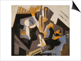 Cubist Still Life in Blue and Grey; Nature Morte Cubiste Bleu Gris
