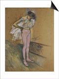 A Dancer Adjusting Her Leotard
