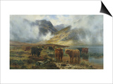 By Loch Treachlan  Glencoe  Morning Mists  1907