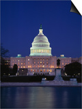 Illuminated Capitol at night  Washington DC